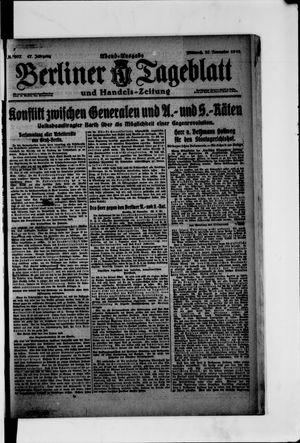Berliner Tageblatt und Handels-Zeitung vom 27.11.1918