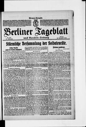 Berliner Tageblatt und Handels-Zeitung vom 29.11.1918