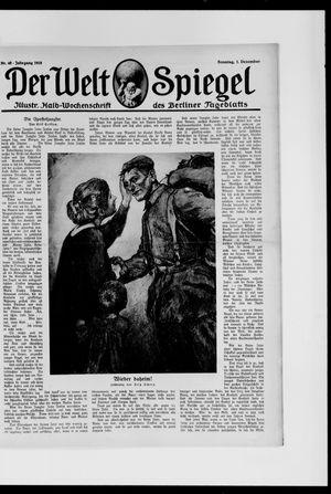 Berliner Tageblatt und Handels-Zeitung vom 01.12.1918
