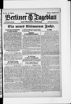 Berliner Tageblatt und Handels-Zeitung vom 02.12.1918