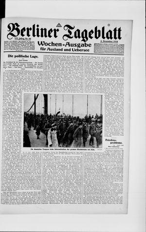 Berliner Tageblatt und Handels-Zeitung vom 04.12.1918