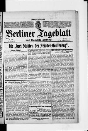 Berliner Tageblatt und Handels-Zeitung vom 06.12.1918