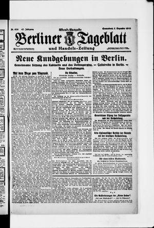 Berliner Tageblatt und Handels-Zeitung vom 07.12.1918
