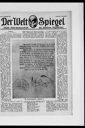 Berliner Tageblatt und Handels-Zeitung vom 08.12.1918
