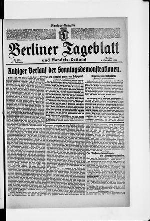 Berliner Tageblatt und Handels-Zeitung vom 09.12.1918