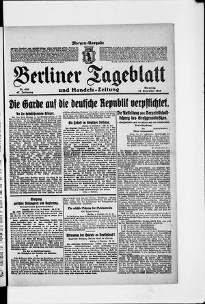 Berliner Tageblatt und Handels-Zeitung vom 10.12.1918