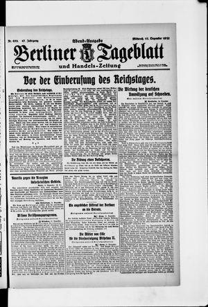 Berliner Tageblatt und Handels-Zeitung vom 11.12.1918