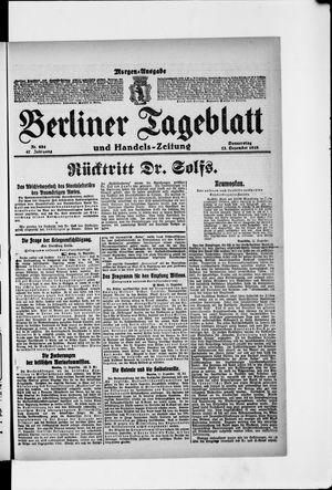 Berliner Tageblatt und Handels-Zeitung vom 12.12.1918