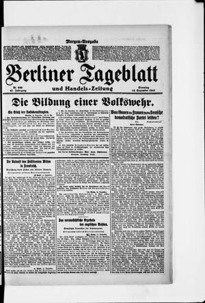 Berliner Tageblatt und Handels-Zeitung vom 15.12.1918