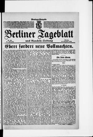 Berliner Tageblatt und Handels-Zeitung vom 16.12.1918