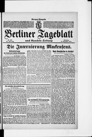Berliner Tageblatt und Handels-Zeitung vom 17.12.1918