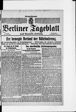 Berliner Tageblatt und Handels-Zeitung vom 19.12.1918