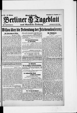Berliner Tageblatt und Handels-Zeitung vom 21.12.1918