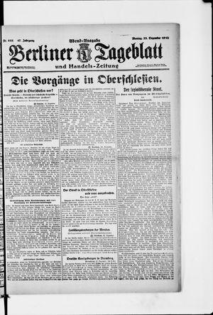 Berliner Tageblatt und Handels-Zeitung vom 23.12.1918