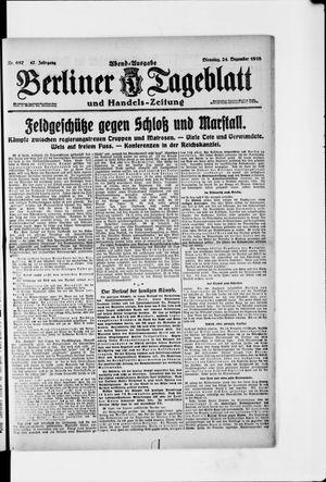 Berliner Tageblatt und Handels-Zeitung vom 24.12.1918