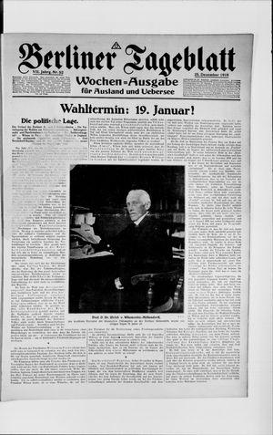 Berliner Tageblatt und Handels-Zeitung vom 25.12.1918