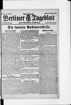 Berliner Tageblatt und Handels-Zeitung vom 27.12.1918