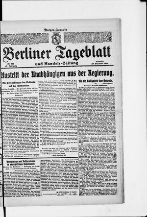 Berliner Tageblatt und Handels-Zeitung vom 29.12.1918