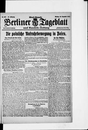 Berliner Tageblatt und Handels-Zeitung vom 30.12.1918