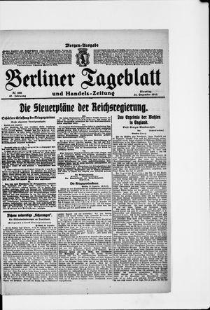 Berliner Tageblatt und Handels-Zeitung on Dec 31, 1918