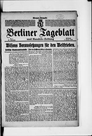 Berliner Tageblatt und Handels-Zeitung vom 01.01.1919
