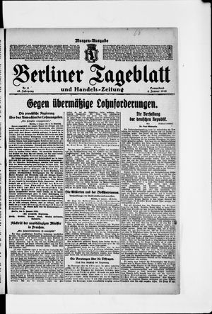 Berliner Tageblatt und Handels-Zeitung vom 04.01.1919