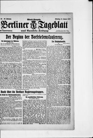 Berliner Tageblatt und Handels-Zeitung vom 14.01.1919