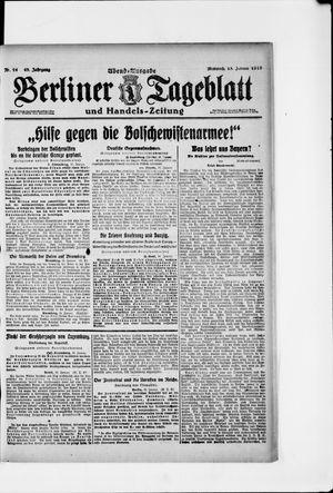 Berliner Tageblatt und Handels-Zeitung vom 15.01.1919