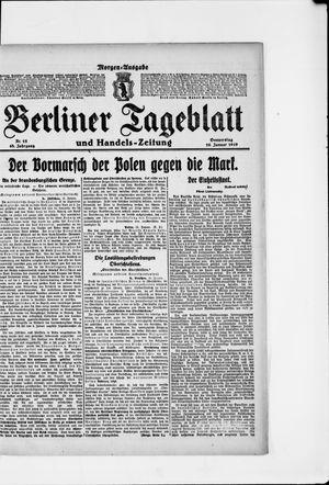 Berliner Tageblatt und Handels-Zeitung vom 16.01.1919