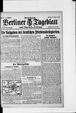 Berliner Tageblatt und Handels-Zeitung vom 17.01.1919