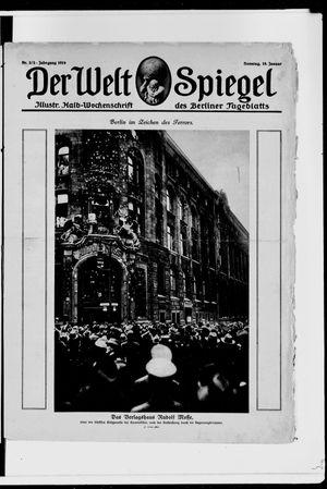 Berliner Tageblatt und Handels-Zeitung on Jan 19, 1919