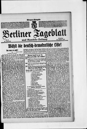 Berliner Tageblatt und Handels-Zeitung vom 19.01.1919