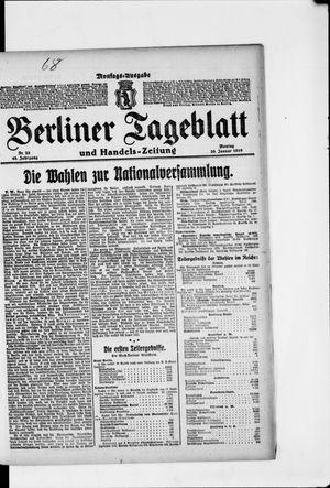 Berliner Tageblatt und Handels-Zeitung vom 20.01.1919