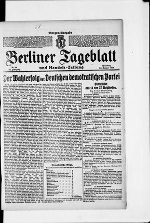 Berliner Tageblatt und Handels-Zeitung vom 21.01.1919