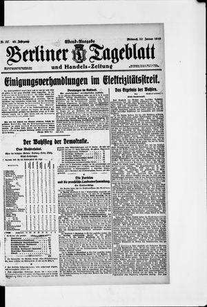 Berliner Tageblatt und Handels-Zeitung vom 22.01.1919