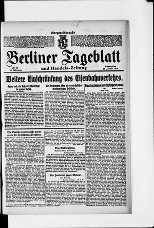 Berliner Tageblatt und Handels-Zeitung vom 23.01.1919