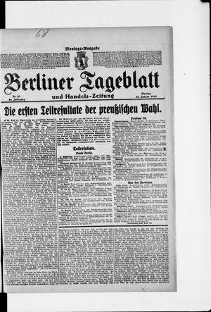 Berliner Tageblatt und Handels-Zeitung vom 27.01.1919