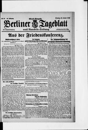 Berliner Tageblatt und Handels-Zeitung vom 28.01.1919