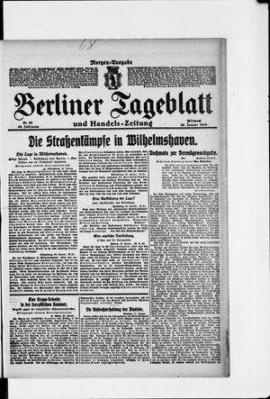 Berliner Tageblatt und Handels-Zeitung vom 29.01.1919