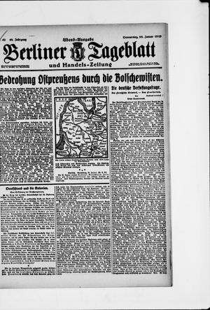 Berliner Tageblatt und Handels-Zeitung vom 30.01.1919