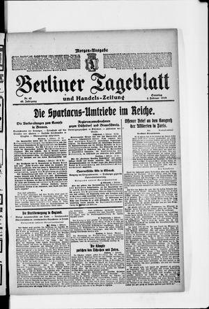 Berliner Tageblatt und Handels-Zeitung vom 02.02.1919