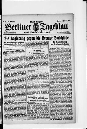 Berliner Tageblatt und Handels-Zeitung vom 03.02.1919