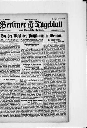 Berliner Tageblatt und Handels-Zeitung vom 07.02.1919
