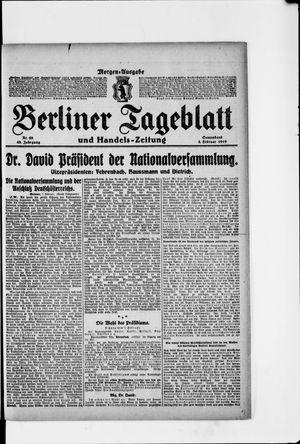 Berliner Tageblatt und Handels-Zeitung vom 08.02.1919