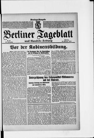 Berliner Tageblatt und Handels-Zeitung vom 10.02.1919