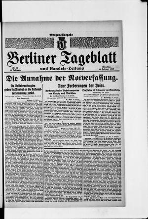 Berliner Tageblatt und Handels-Zeitung vom 11.02.1919