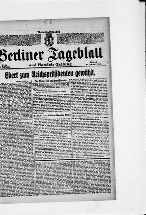 Berliner Tageblatt und Handels-Zeitung vom 12.02.1919