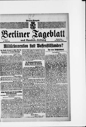 Berliner Tageblatt und Handels-Zeitung vom 13.02.1919