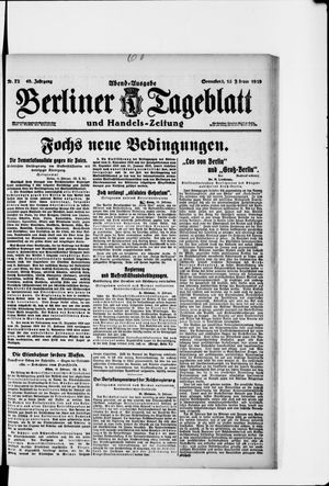 Berliner Tageblatt und Handels-Zeitung vom 15.02.1919