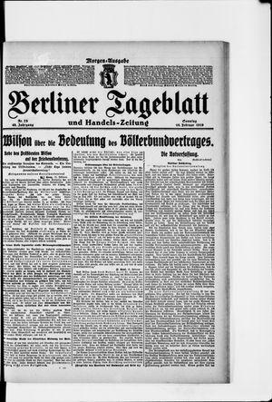Berliner Tageblatt und Handels-Zeitung vom 16.02.1919